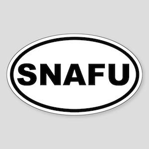 SNAFU Oval Sticker