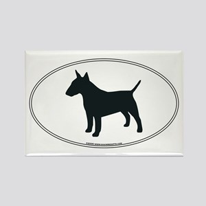 Bull Terrier Silhouette Rectangle Magnet