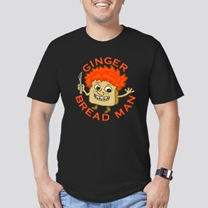 Funny Gingerbread Man Men's Fitted T-Shirt (dark)