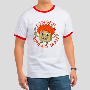 Funny Gingerbread Man Ringer T