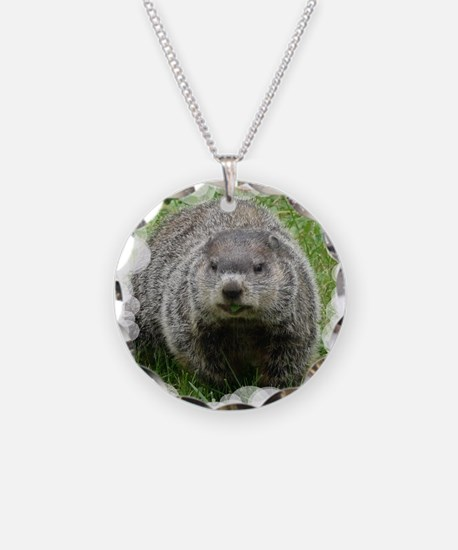 Groundhog Eating Necklace