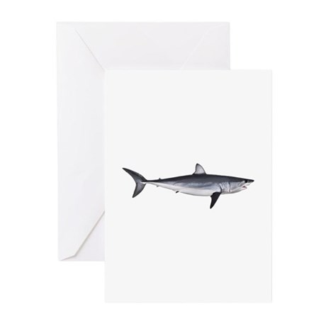 Shortfin Mako Shark Greeting Cards (Pk of 10)