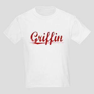 Griffin, Vintage Red Kids Light T-Shirt