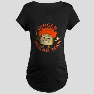 Funny Gingerbread Man Maternity Dark T-Shirt