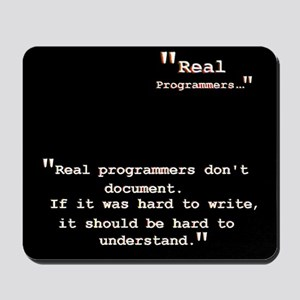 Real programmers don't document Mousepad