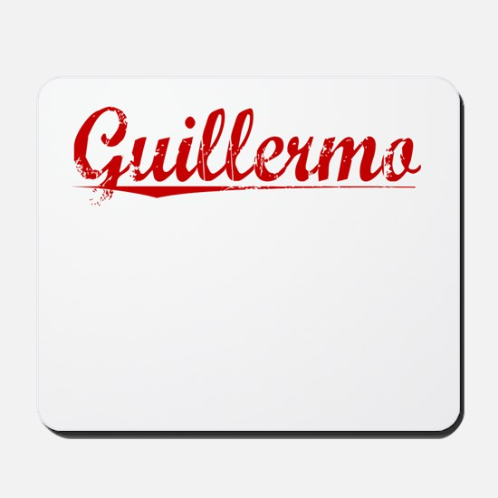 Guillermo, Vintage Red Mousepad