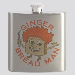Funny Gingerbread Man Flask