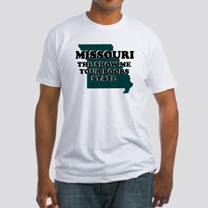 MISSOURI FUNNY STATE SHIRTS I Fitted T-Shirt