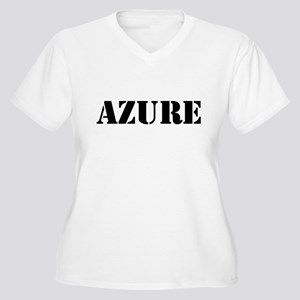 Azure Women's Plus Size V-Neck T-Shirt