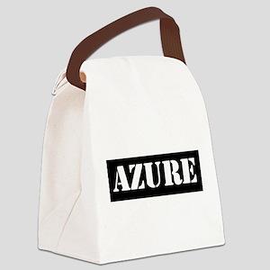 Azure Canvas Lunch Bag