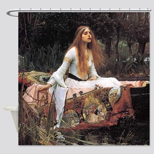 The Lady of Shalott by Waterhouse Shower Curtain