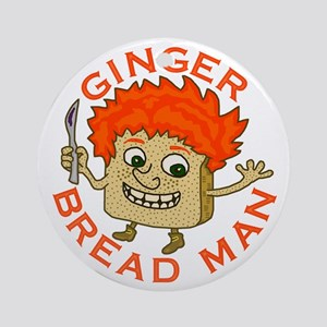 Funny Gingerbread Man Ornament (Round)