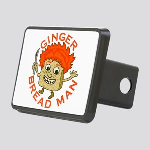 Funny Gingerbread Man Rectangular Hitch Cover