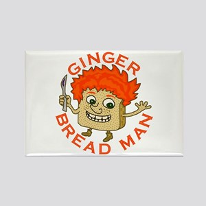 Funny Gingerbread Man Rectangle Magnet