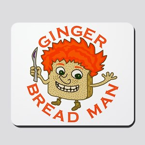 Funny Gingerbread Man Mousepad