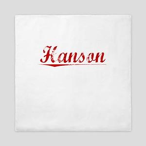 Hanson, Vintage Red Queen Duvet