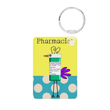 Pharmacy Aluminum Photo Keychain