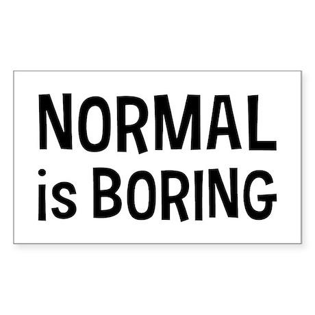 Normal Boring Sticker (Rectangle)