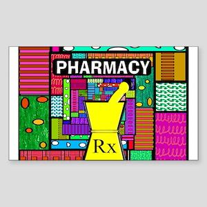 Pharmacy Sticker (Rectangle)