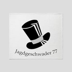 Jagdgeschwader 77 Tophat Throw Blanket