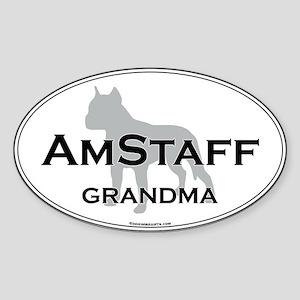 Am Staff Terrier GRAN Oval Sticker