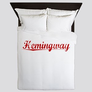 Hemingway, Vintage Red Queen Duvet