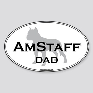 Am Staff Terrier DAD Oval Sticker