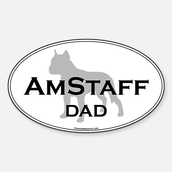 Am Staff Terrier DAD Oval Decal