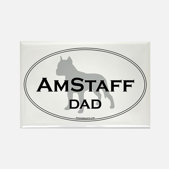 Am Staff Terrier DAD Rectangle Magnet