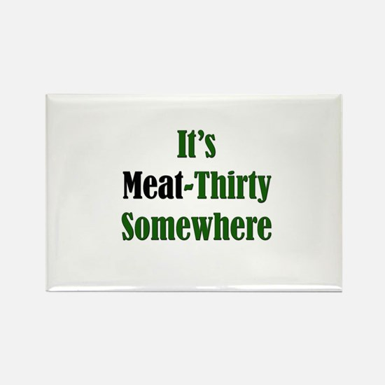 Meat-Thirty Rectangle Magnet