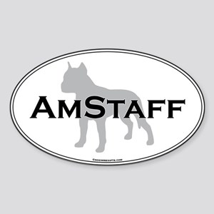 Am Staff Terrier Oval Sticker