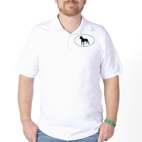 Am Staff Terrier Silhouette Golf Shirt