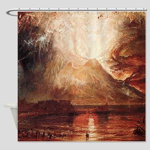 Mount Vesuvius in Eruption by Turner Shower Curtai