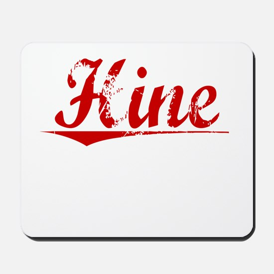 Hine, Vintage Red Mousepad