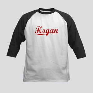 Hogan, Vintage Red Kids Baseball Jersey