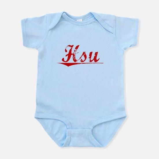 Hsu, Vintage Red Infant Bodysuit