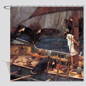 Ulysses and the Sirens by Waterhouse Shower Curtai
