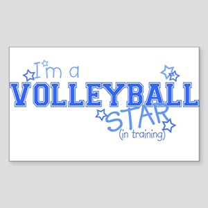 Volleyball star Rectangle Sticker