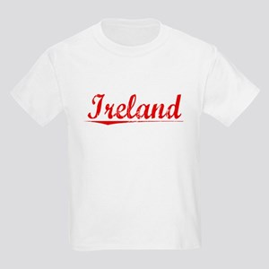 Ireland, Vintage Red Kids Light T-Shirt