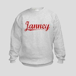 Janney, Vintage Red Kids Sweatshirt