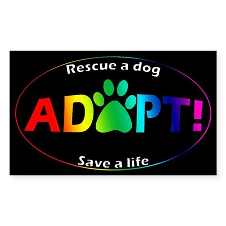 Adopt Sticker (Multi on Black) Sticker