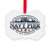 Navy pier Picture Frame Ornaments