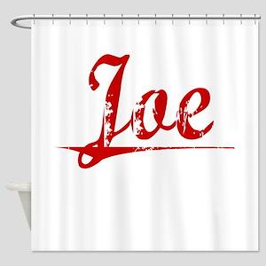 Joe, Vintage Red Shower Curtain