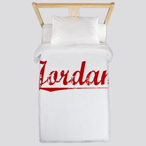Jordan, Vintage Red Twin Duvet