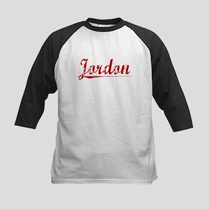 Jordon, Vintage Red Kids Baseball Jersey
