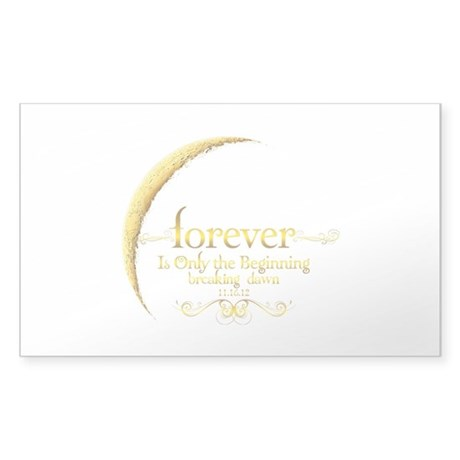 Dated Forever is Only the Beginning Sticker (Recta