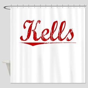 Kells, Vintage Red Shower Curtain
