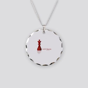 Forever is only the Beginning Chess Necklace Circl