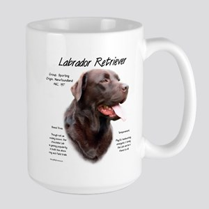 Chocolate Lab 15 oz Ceramic Large Mug