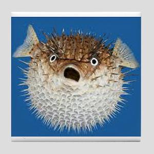 Blow Fish Face Tile Coaster